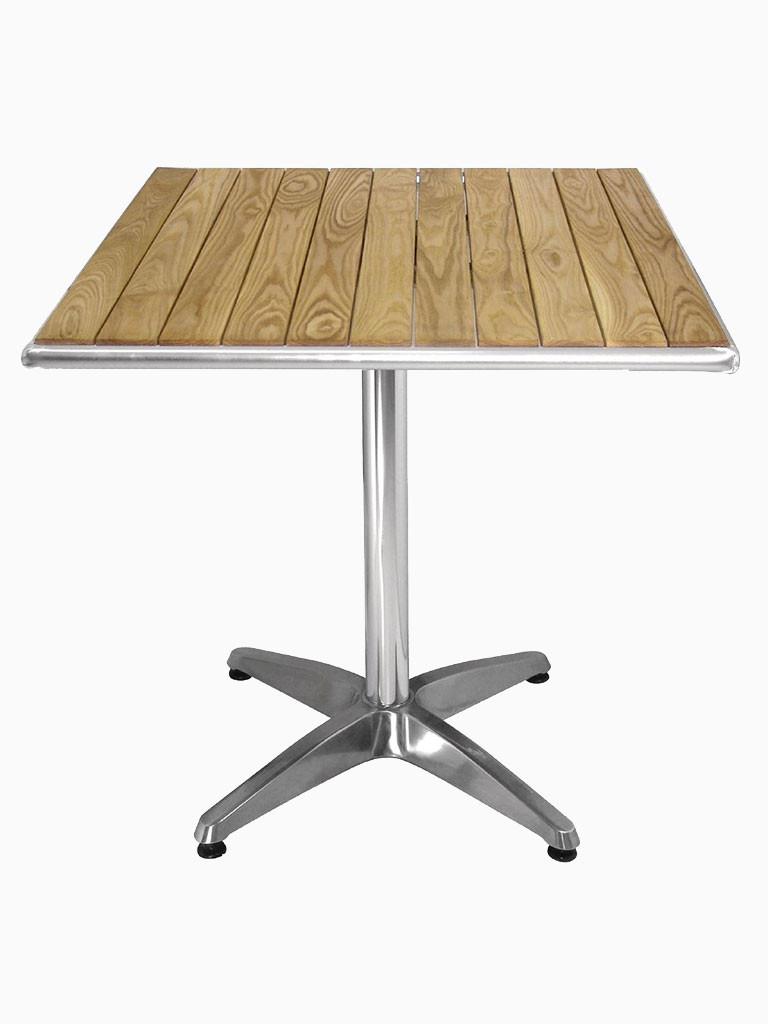 Bolero bistrotafel essenhout vierkant 70 cm| Horeca tafel