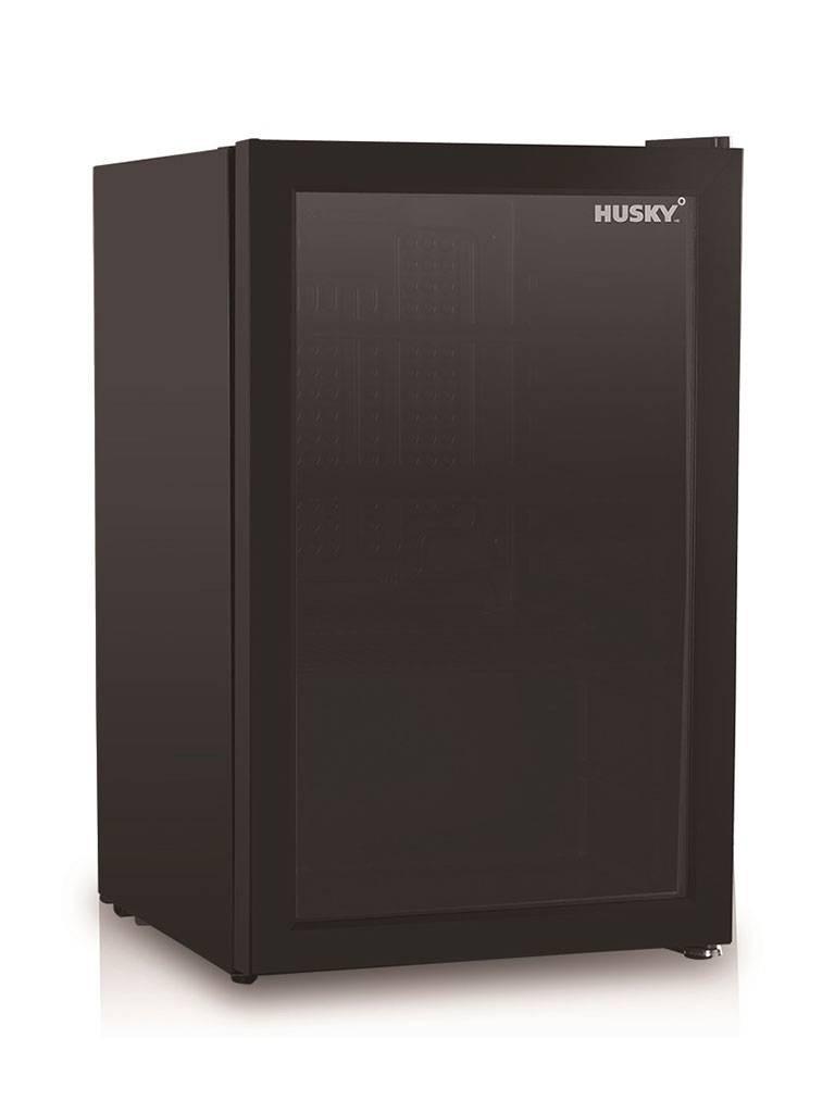 Husky - 71 liter - 1 deurs - Zwart - KK70-BK-NL-HU - Koelkast glazen deur